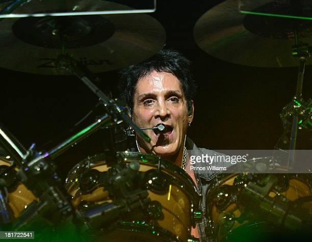 Deen Castronovo of Journey performs during Music Midtown 2013 Day 1 at Piedmont Park on September 20 2013 in Atlanta Georgia