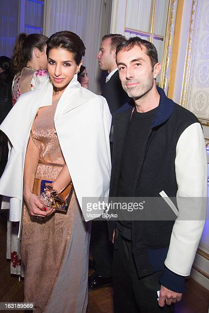 Deena Abdulaziz and Giambattista Valli attend 'CR Fashion Book Issue 2' Carine Roitfeld Cocktail as part of Paris Fashion Week at Hotel ShangriLa on...