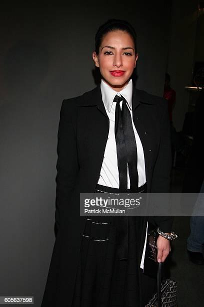 Deena Abdulaziz attends Proenza Schouler Fall 2006 Fashion Show at Milk Gallery on February 9 2006 in New York