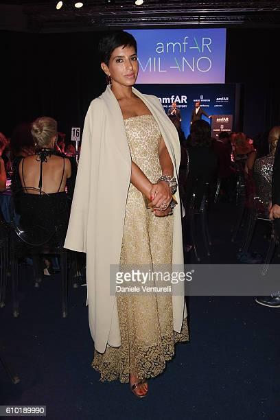 Deena Abdulaziz attends the dinner of amfAR Milano 2016 at La Permanente on September 24 2016 in Milan Italy