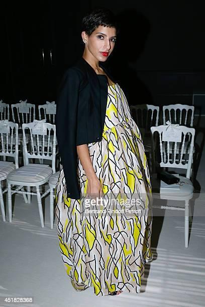 Deena Al Juhani Abdulaziz attends the Giambattista Valli show as part of Paris Fashion Week Haute Couture Fall/Winter 20142015 on July 7 2014 in...