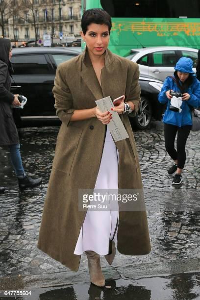 Deena Aljuhani Abdulaziz arrives at the Haider Ackermann show as part of the Paris Fashion Week Womenswear Fall/Winter 2017/2018 on March 4 2017 in...