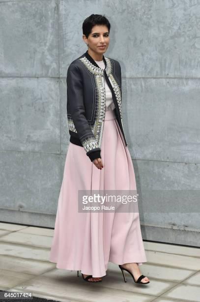 Deena Aljuhani Abdulaziz attends the Emporio Armani show during Milan Fashion Week Fall/Winter 2017/18 on February 24 2017 in Milan Italy