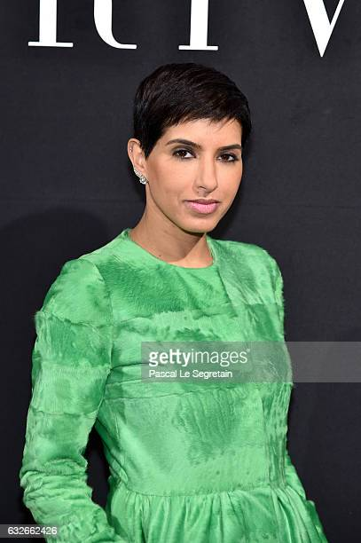 Deena Aljuhani Abdulaziz attends the Giorgio Armani Prive Haute Couture Spring Summer 2017 show as part of Paris Fashion Week on January 24 2017 in...