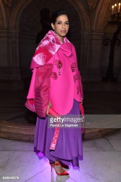 Deena Aljuhani Abdulaziz attends the Stella McCartney show as part of the Paris Fashion Week Womenswear Fall/Winter 2017/2018 on March 6 2017 in...