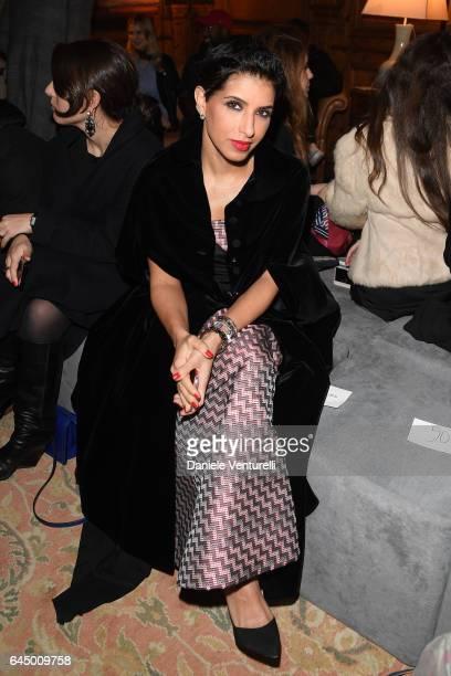 Deena Aljuhani Abdulaziz attends the Vionnet show during Milan Fashion Week Fall/Winter 2017/18 on February 24 2017 in Milan Italy