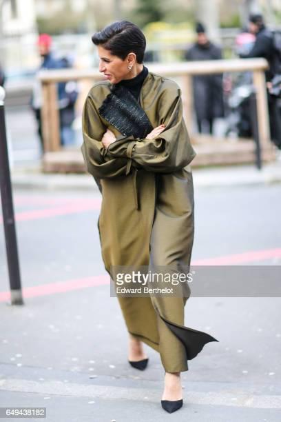 Deena Aljuhani Abdulaziz is seen outside the Ellery show during Paris Fashion Week Womenswear Fall/Winter 2017/2018 on March 7 2017 in Paris France