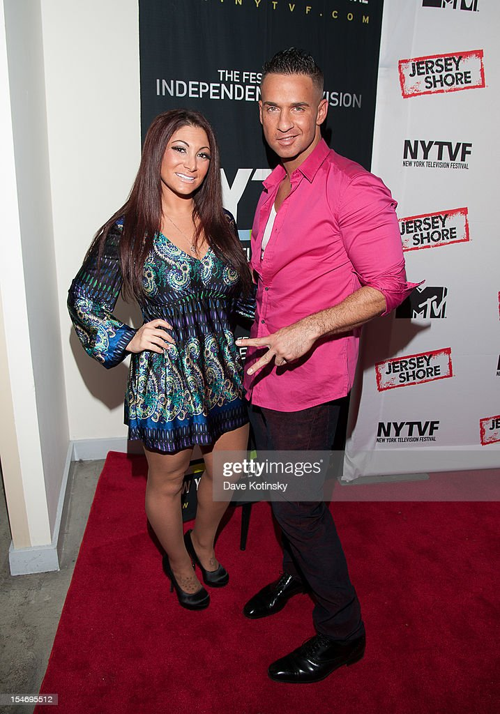 Deena Cortese and Mike 'The Situation' Sorrentino attends 'Love, Loss, (Gym, Tan) and Laundry: A Farewell To The Jersey Shore' during the 2012 New York Television Festival at 92Y Tribeca on October 24, 2012 in New York City.