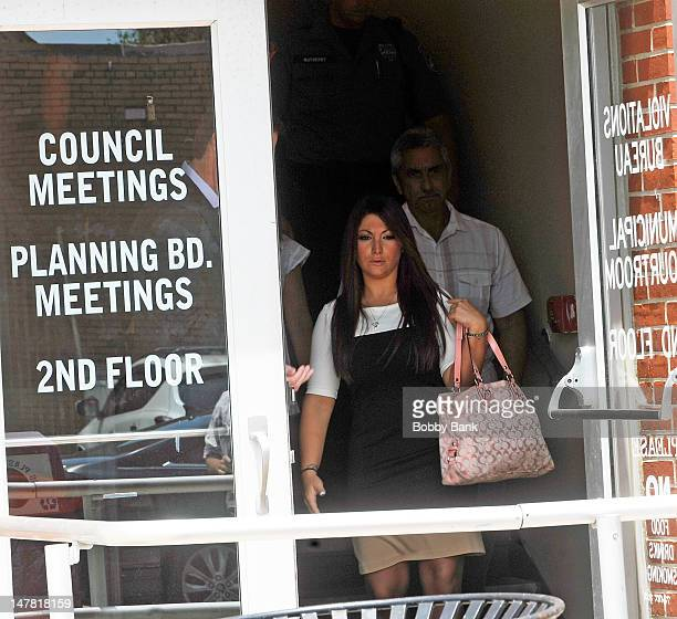 Deena Cortese arrives with her father John Cortese at the Seaside Heights Municipal Court for her arraignment on disorderly conduct charges related...