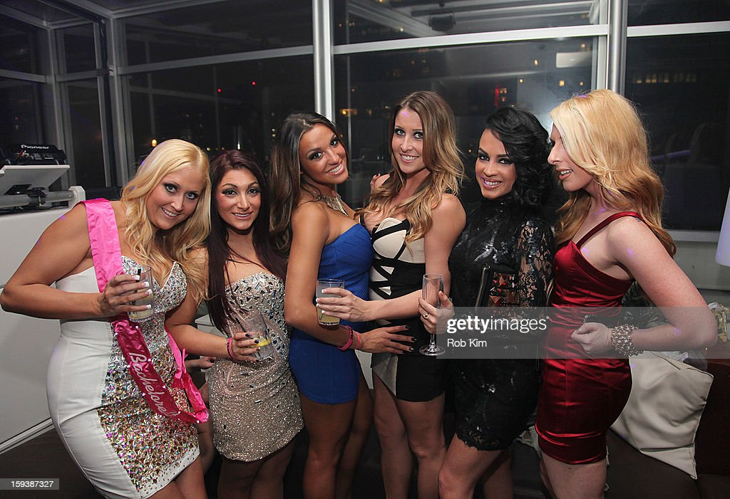 Deena Cortese (2nd left) attends her birthday celebration at Sky Room Times Square on January 12, 2013 in New York City.