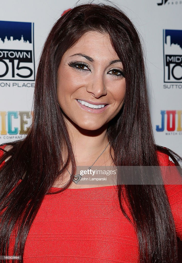 Deena Cortese attends 'Jerseylicious' Season 5 Premiere Party at Midtown Sutton on January 28, 2013 in New York City.