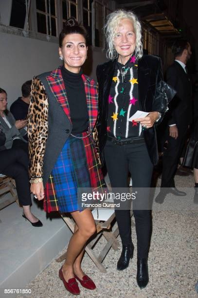 Deena Giovanna Battaglia and Ellen von Unwerth attend the Alexander McQueen show as part of the Paris Fashion Week Womenswear Spring/Summer 2018 on...
