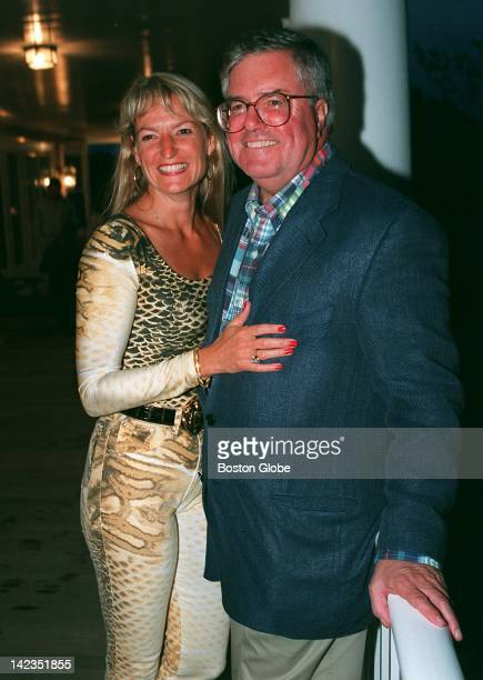 Deena Prestegard of Newton and David Mugar of Boston attend the Mass Media Alliance party in Nantucket June 20 1997