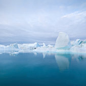 Deep Blue Arctic Icebergs Greenland