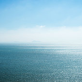 Deep blue sea and sky