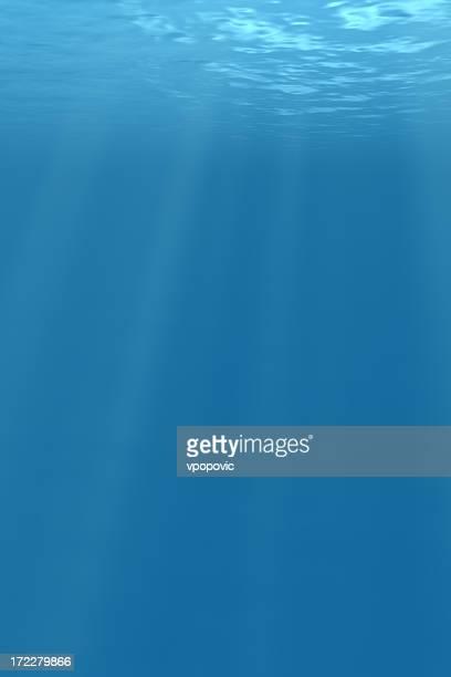 Profundo mar azul