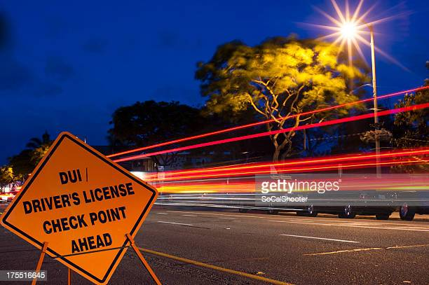 Deep blue sky dui checkpoint