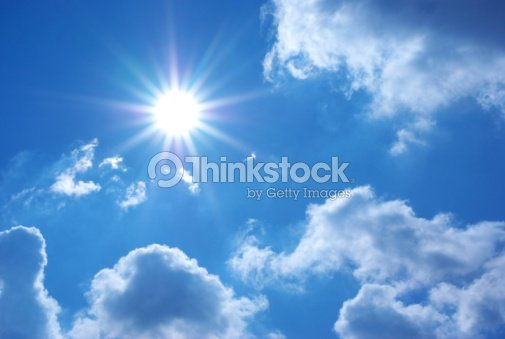 Deep blue sky : Stock Photo
