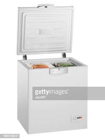 Deep Freezer (isolated with clipping path over white background)