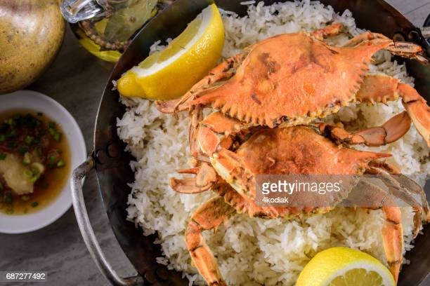 Deep Fried Crab over Rice