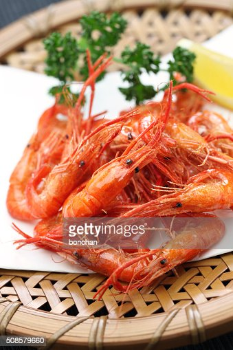 deep fried freshwater shrimp, japanese food : Bildbanksbilder