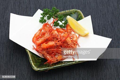 deep fried freshwater shrimp, japanese food : Stockfoto