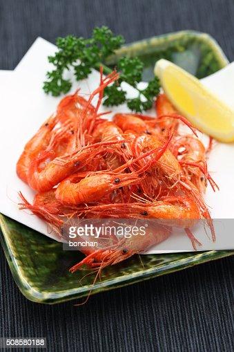 Frit aux crevettes, des plats japonais d'eau douce : Photo