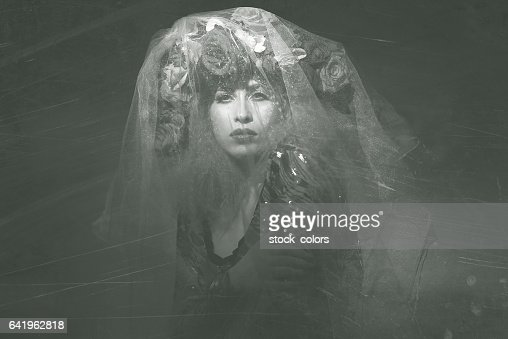 deep look of fairy woman in the night
