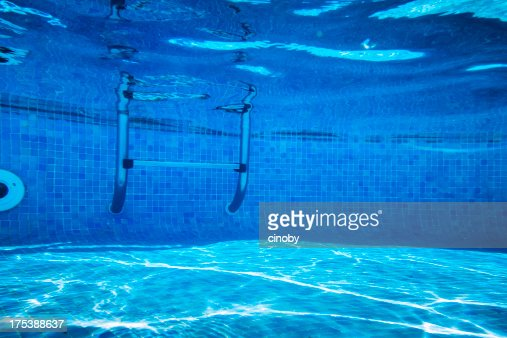 Deep of swimming pool stock photo getty images - How deep is the average swimming pool ...