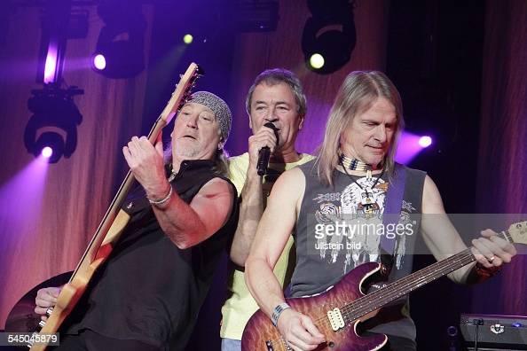 Deep Purple Music Group Rock music UK From left Roger Glover Ian Gillan Steve Morse performing in Berlin Germany MaxSchmelingHalle