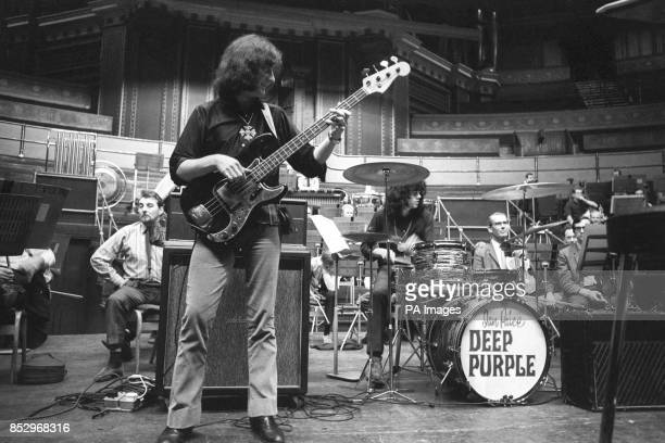 Deep Purple's rehearsal for 'Concerto for Group and Orchestra' composed by the group's organist Jon Lord The piece will be performed by the group for...