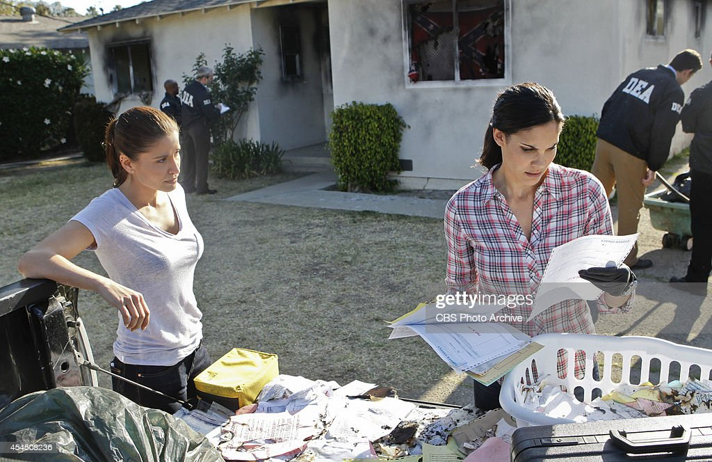 'Deep Trouble Pt II' Pictured Mercedes Masohn as DEA Agent Talia Del Campo and Daniela Ruah Callen and Sam are trapped in an armed submarine that...
