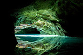Deep underground cave exploration