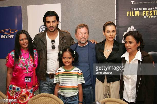 Deepa Mehta writer/director John Abraham Sarala David Hamilton Lisa Ray and Seema Biswas