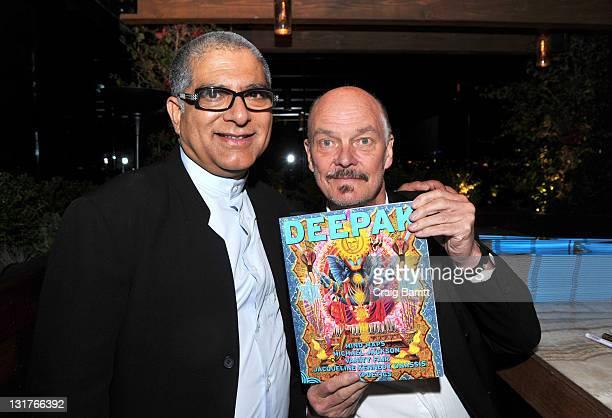 Deepak Chopra and Alan Aldridge at the Deepak Chopra MYMAG Event at Thompson Hotel on November 12 2010 in Beverly Hills California