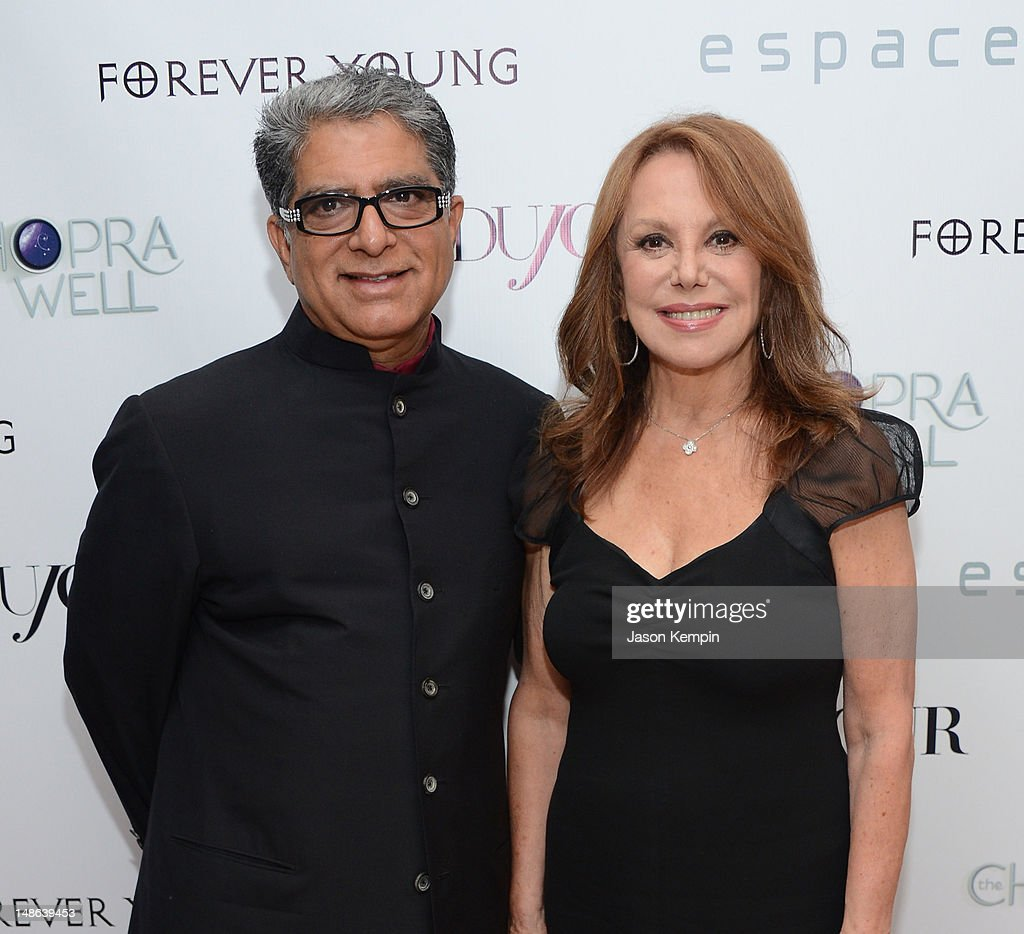 Deepak Chopra and Marlo Thomas attend The Chopra Well Launch Event at Espace on July 18, 2012 in New York City.