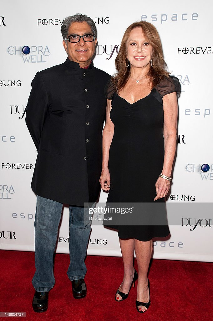 <a gi-track='captionPersonalityLinkClicked' href=/galleries/search?phrase=Deepak+Chopra&family=editorial&specificpeople=684107 ng-click='$event.stopPropagation()'>Deepak Chopra</a> (L) and <a gi-track='captionPersonalityLinkClicked' href=/galleries/search?phrase=Marlo+Thomas&family=editorial&specificpeople=209421 ng-click='$event.stopPropagation()'>Marlo Thomas</a> attend The Chopra Well Launch Event at Espace on July 18, 2012 in New York City.