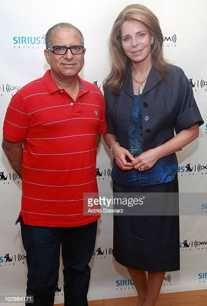 Deepak Chopra and Queen Noor of Jordan attend the taping of 'The Road to Global Nuclear Disarmament The Origin The Evolution and The Future of a...