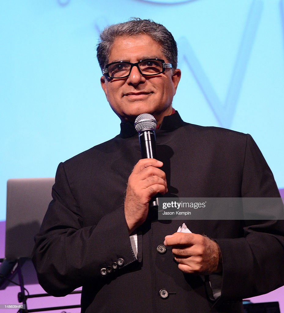 <a gi-track='captionPersonalityLinkClicked' href=/galleries/search?phrase=Deepak+Chopra&family=editorial&specificpeople=684107 ng-click='$event.stopPropagation()'>Deepak Chopra</a> attends The Chopra Well Launch Event at Espace on July 18, 2012 in New York City.