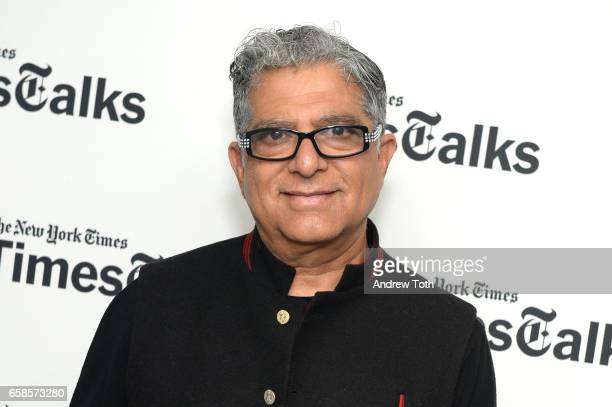 Deepak Chopra attends TimesTalks at Florence Gould Hall on March 27 2017 in New York City
