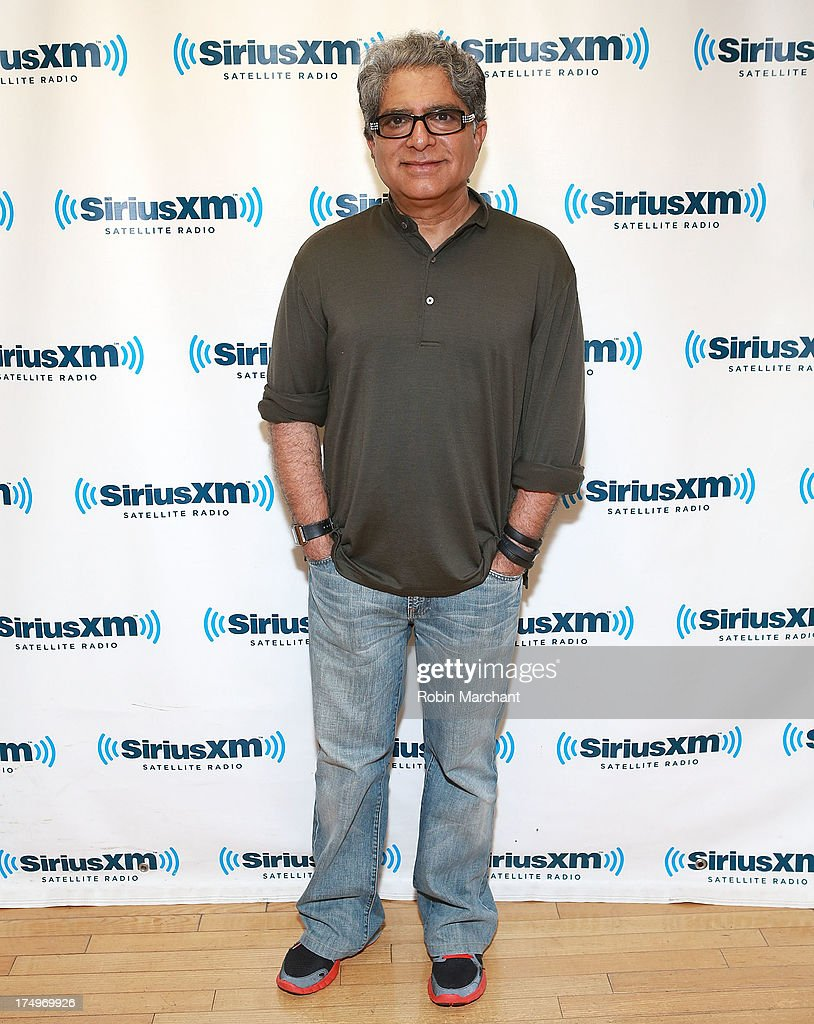 <a gi-track='captionPersonalityLinkClicked' href=/galleries/search?phrase=Deepak+Chopra&family=editorial&specificpeople=684107 ng-click='$event.stopPropagation()'>Deepak Chopra</a> visits at SiriusXM Studios on July 29, 2013 in New York City.
