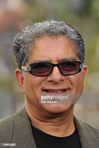 Deepak Chopra visits Extra at The Grove on February 23 2012 in Los Angeles California