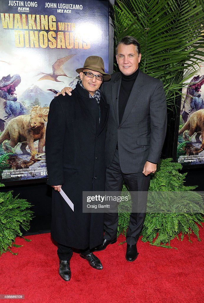 Deepak Nayar and Stuart Ford attend the 'Walking With Dinosaurs' screening at Cinema 1, 2 & 3 on December 15, 2013 in New York City.