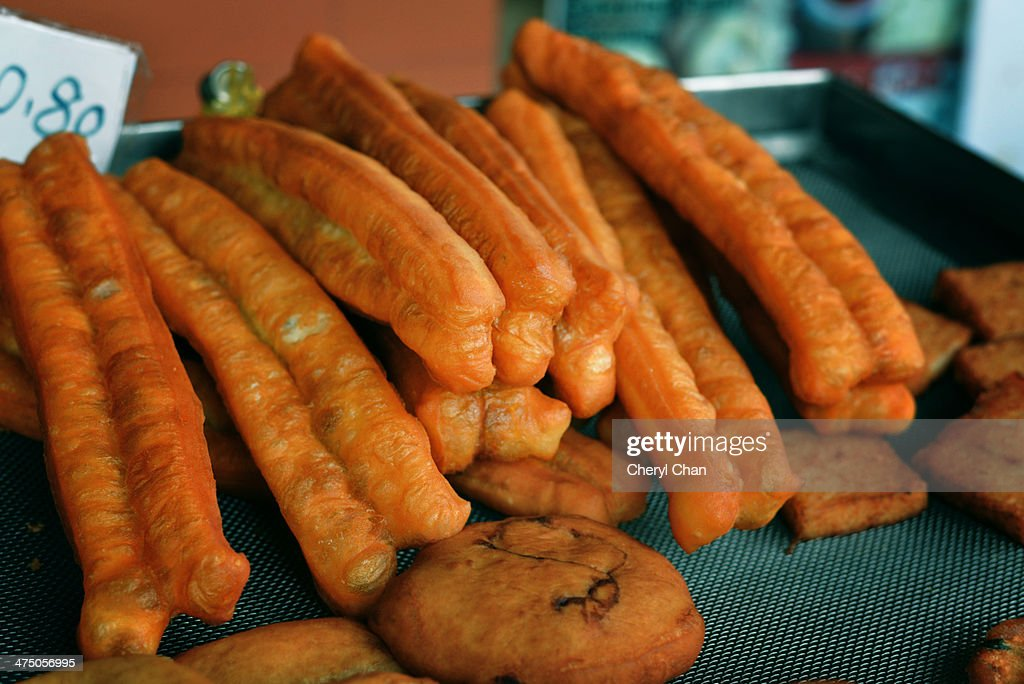 Deep-fried dough : Stock Photo