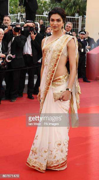 Deepika Padukone arrives for the Tournee screening at the Palais de Festival during the 63rd Cannes Film Festival France
