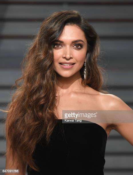 Deepika Padukone arrives for the Vanity Fair Oscar Party hosted by Graydon Carter at the Wallis Annenberg Center for the Performing Arts on February...