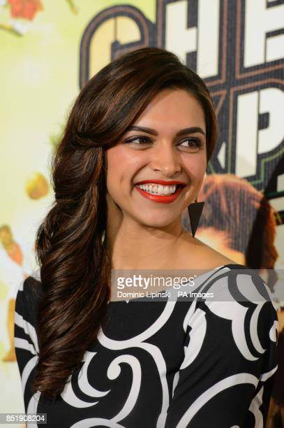 Deepika Padukone at a press conference for the film Chennai Express at the Courthouse hotel in central London