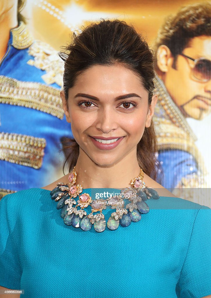 Deepika Padukone attends a photocall for 'Happy New Year' at Montcalm Marble Arch on October 5 2014 in London England