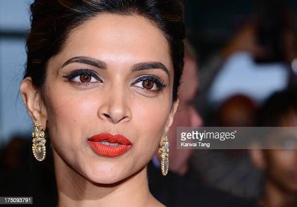 Deepika Padukone attends a special screening of 'Chennai Express' at Cineworld Feltham on July 31 2013 in Feltham England