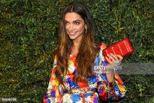 Deepika Padukone attends Charles Finch and CHANEL PreOscar Awards Dinner at Madeo Restaurant on February 25 2017 in Los Angeles California